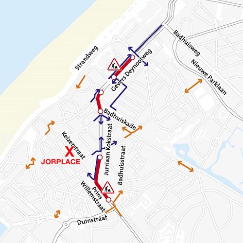 Street construction around Jorplace